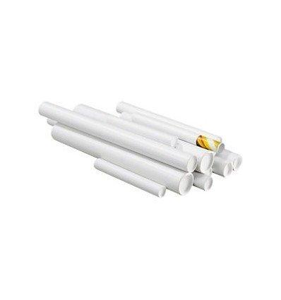 Tubo cartón blanco 1 m diámetro interior 6 cm