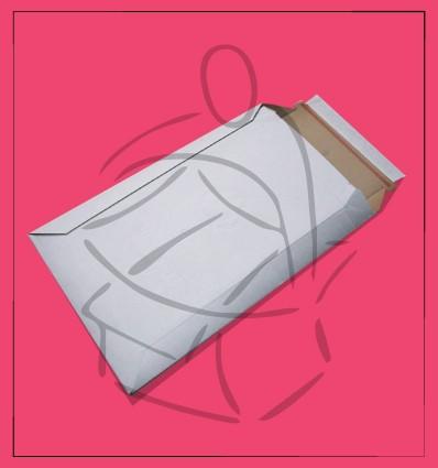 Sobre Vertical Cartón Ondulado Blanco 166x260