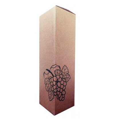 Caja para botellas Eco kraft uva 1 bot. 90x90x325
