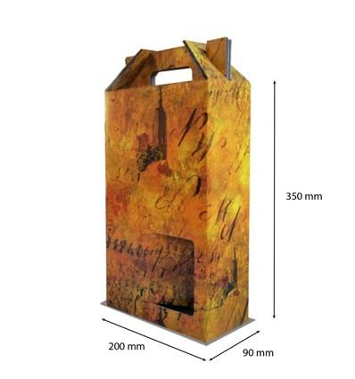 Caja para botellas Terra 2 botellas 200x90x350