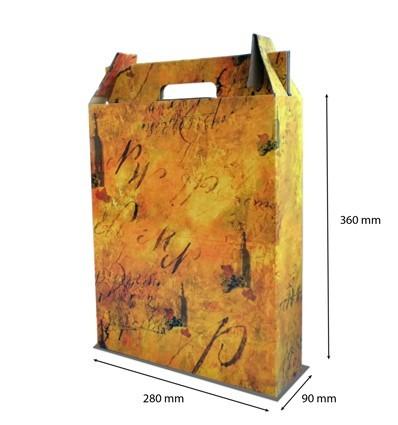 Caja para botellas Terra 3 botellas 280x90x360