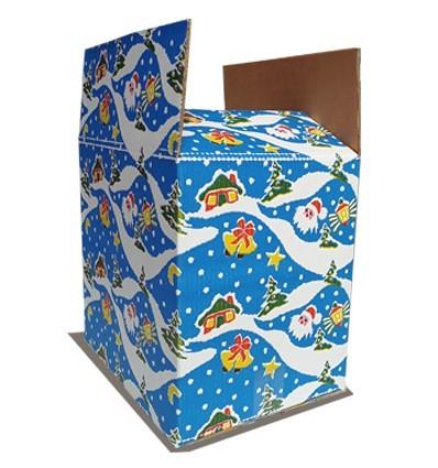 Caja para lotes y regalos Caja nevada 12 botellas. 360x280x360