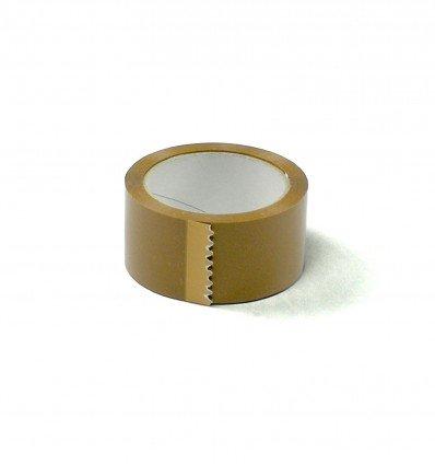 Cintas adhesiva PVC marrón 50 mm 66 m