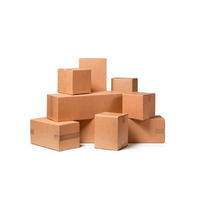 Caja plegable de cartón doble 400x400x400