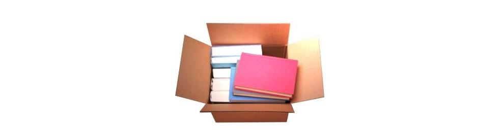 Cajas para libros, cd y dvd