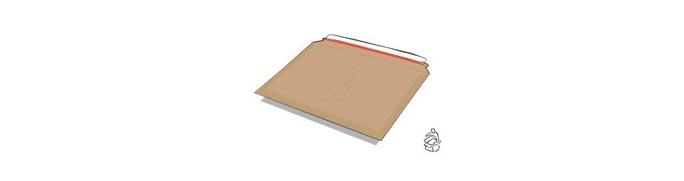 Sobres Cartón Rígido con Cierre