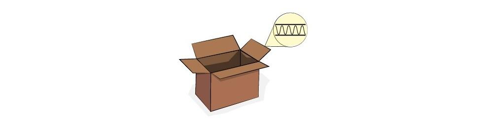 Cajas plegables de cartón sencillo